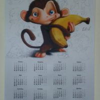 изготовить календари 2016 год Обезьяны