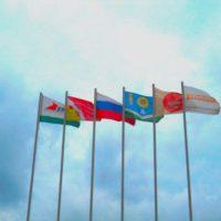 фирменные флаги вьются