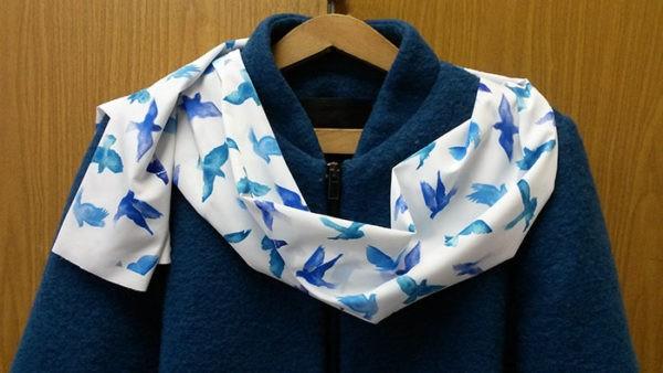 печать на шарфах