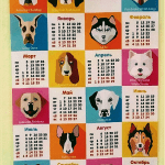 календарь на ткани
