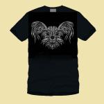чёрная футболка печать