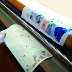 получение рисунка на ткани