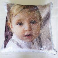 подушка с пайетками с фотографией