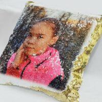 подушка хамелеон с фотографией